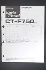 Pioneer ct-f750 Original Additional service-manual/Manuel/schéma! o11