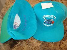 CHARLOTTE HORNETS WOOL G-CAP RARE  SCRIPT NEW VINTAGE 90'S HAT CAP  SNAPBACK
