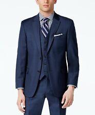Tommy Hilfiger Men's Sharkskin Modern-Fit Suit Jacket Sport Coat Blue 48R $450