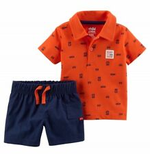 Child of Mine by Carter's Baby Boy Polo Style Shirt & Shorts, 2pc Outfit 6-9 Mo