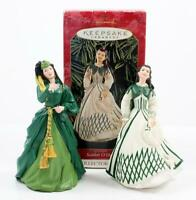 Hallmark KS Scarlett O'Hara Ornaments #3 & 4 in Series Trousseau & Curtain Gowns