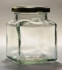 70  x  200G SQUARE GLASS JAM JAR  -  JAM PICKLES, CHUTNEY -  (12OZ APPROX)