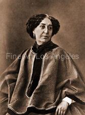 "Felix Nadar Photo, ""George Sand"" 1864, novelist, writer"