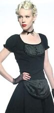 *Lip Service Devil Dolls III Black Dotted Cap Sleeve Top Goth Lolita Anime XL