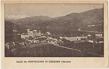 SALUTI DA MONTECCHIA DI CROSARA (VERONA) 1919 FIELD POST CENSURA INGLESE