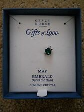 CRAZY HORSE A LIZ CLAIBORNE CO. MAY EMERALD BIRTHSTONE PENDANT NECKLACE NEW