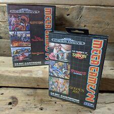 Sega Mega Drive Bundle ~ Mega Games 2 & 3 ~ Shinobi, Streets of Rage, Golden Axe