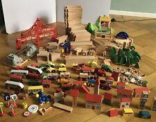 Riesenkonvolut Brio Holz Eisenbahn Zubehör