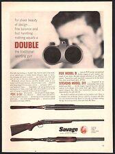 1956 FOX Model B-ST, B, STEVENS 311 Double-Barrel Shotgun Savage Arms AD