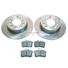 VW SCIROCCO 1.4 2.0 TDi 2008-2017 REAR 2 BRAKE DISCS AND PADS SET