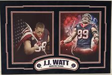 JJ Watt Dual 8x10 Custom Matted Photos Houston Texans Unsigned Ready For Framing