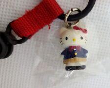 RARE 1999 Sanrio HELLO KITTY Mascot SCHOOL GIRL Charm Lanyard KEYCHAIN Clip NEW