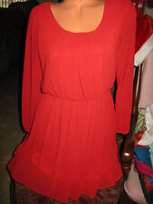 BY & BY MEDIUM RED Dress With Out  Belt Short Dressy Party