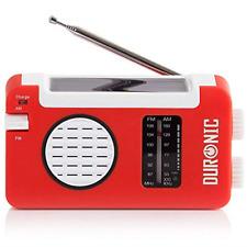 Duronic AM/FM Radio HYBRID | Charge 3 Ways: Solar Power, Wind Up, USB | Dynamo |