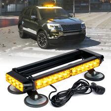 Xprite Yellow 32 LED Strobe Light Bar w/ Magnetic Trucks Roof Beacon 360 Degree