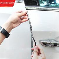 16FT Car Door Edge Guard Clear U Shape Trim Molding Carbon Fiber Seal Protector