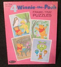 Disney Winnie the Pooh 4 puzzles original box excellent condition Whitman 4749