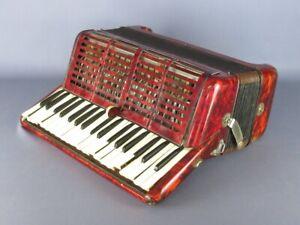 Paolo Sopranos Vintage Instrumento Musical Para Uso Restauración Acordeón