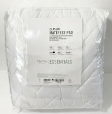 Martha Stewart Essential Queen Mattress Pad Cover Topper 18' Deep White New
