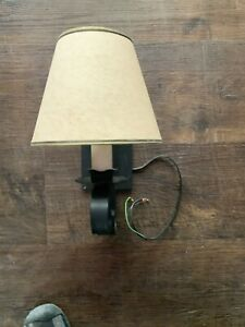 Black metal wall scone lamps lighting light fixtures with shades 2 available