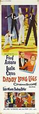 DADDY LONG LEGS Movie POSTER 14x36 Insert B Fred Astaire Leslie Caron Terry