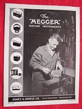 1939 MEGGER ELECTRICAL TESTING INSTRUMENTS BROCHURE CATALOG