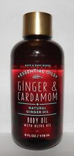 Bath & Body Works Essential Oils Ginger & Cardamom Body Oil With Olive Oil 6 oz.