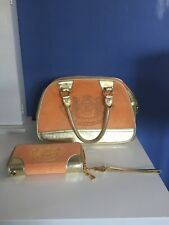 Juicy couture handbag wallet lot orange gold made with love P&G