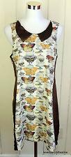 Handmade Trendy Butterfly Cage Print Peter Pan Summer Light Weight Dress Fits M