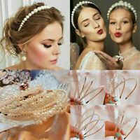 Women Big Pearl Headband Hairband Hoops Girls Princess Hair Accessories Wedding