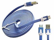 Micro USB Kabel Ladekabel 3Meter Datenkabel blau für Android Handy Nokia Samsung