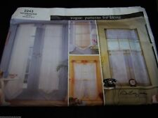 Pattern Vogue # 2243 Patterns for Curtain Panel Cafe Curtain 4 Different Panels