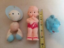 Vintage Hard Plastic Baby Toys Rattles Duck Pond Ideal Kewpie Doll