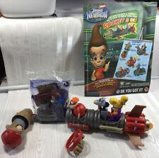 Jimmy Neutron Nickelodeon Burger King 2002 Complete Set W/Pamphlet Leaflet