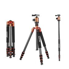 ZOMEI Z818C Professional Carbon Fiber Tripod Monopod&Ball Head for DSLR Camera