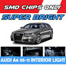 18x AUDI A6 C6 Estate Avant White LED Interior Kit Light Bulb Canbus Error Free