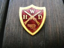 More details for ww2 home front rare women's home defence force badge whd (women's home guard )