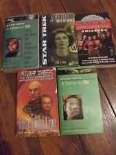 5 Star Trek Book Lot New Frontier Next Generation etc. Science Fiction Books