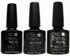 CND Shellac ALLURING TRILOGY TOP COAT Collection - MATTE, GLITTER & PEARL #91729