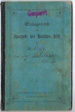 SPARBUCH-SPARKASSE DES MARKTES ISCHL-1916-1922 - MIT EINEM ERHEBLICHEN GUTHABEN