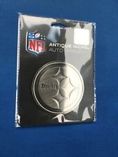 Pittsburgh Steelers- Antique Nickel Auto Emblem- NFL- Car Decal- Football-