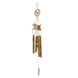 Natural Bamboo Tube Wind Chime wind Bell for Outdoor indoor Garden Patio Tree