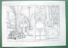 ARCHITECTURE PRINT : Vaulted Ceilings Regensburg Radcliffe & Bristol