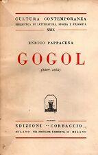 GOGOL, E. Pappacena, Corbaccio 1930 **ST9