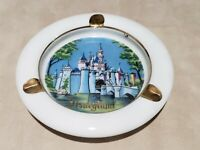 Vintage Disneyland Castle Porcelain Ashtray Productions Japan Sticker