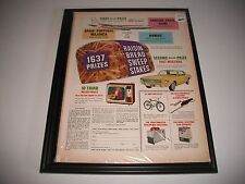 "CIRCA 1967 ""WIN A 1967 FORD MUSTANG""  RAISIN BREAD CONTEST PRINT AD COLLECTIBLE"