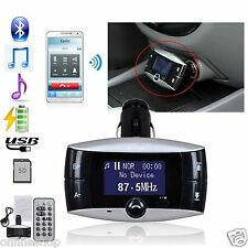 "Bluetooth 1.5"" LCD Car Kit MP3 Player SD MMC USB Remote FM Transmitter Modulator"