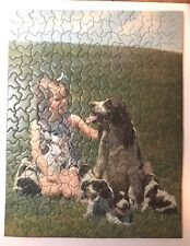 Vintage TUCO Deluxe Picture Puzzle - Dog Puppy and Little Girl - no. 4905