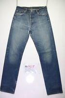 Levi's 501 (Cod.H1807) tg 48 W34 L36 jeans usato vintage indigo boyfriend