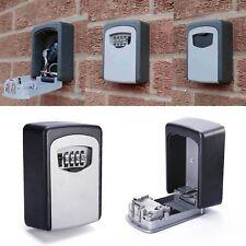 4 Digit Key Lock Box Wall Organizer Mount Combination Password Hook Storage New